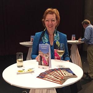 Marguerite Machek-Vos auf der Pressekonferenz der Bühne Burgenland 2016