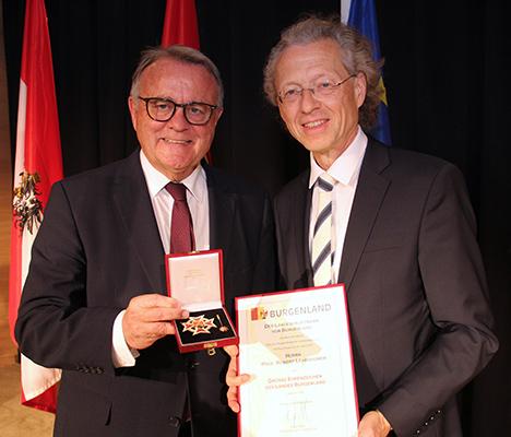 Landeshauptmann Hans Niessl und Prof. Robert Lehrbaumer